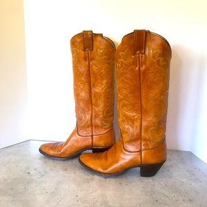LAST CHANCE Vintage Justin Leather Cowboy boots